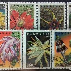 Sellos: SELLOS DE TANZANIA, FLORES DE CACTUS 1995. Lote 140196680