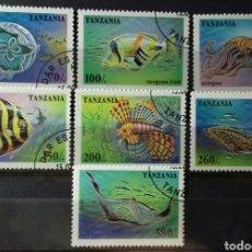Sellos: SELLOS DE TANZANIA, VIDA MARINA EN EL ARRECIFE DE CORAL 1995. Lote 140196732
