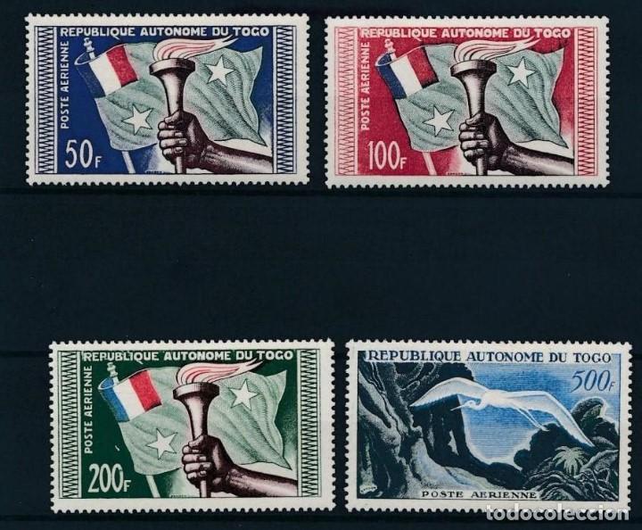 SELLOS TOGO 1957 CORREO AÉREO Y&T 25/28* (Sellos - Extranjero - África - Otros paises)