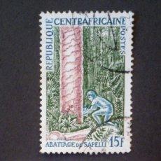 Sellos: 1975 REPÚBLICA CENTROAFRICANA MADERERAS CENTROAFRICANAS. Lote 142732286