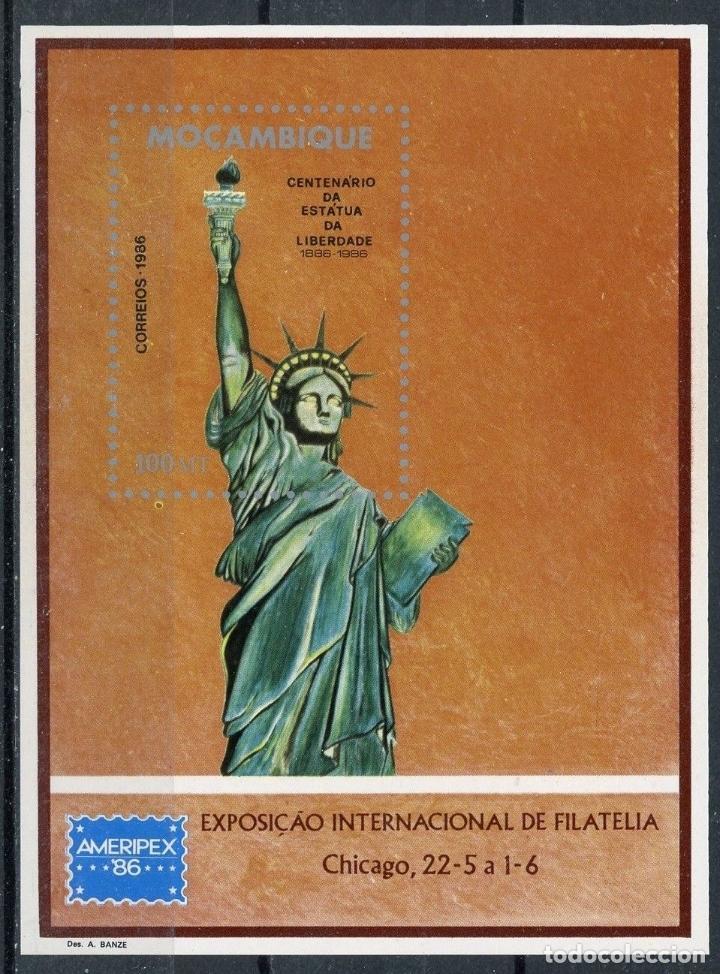 MOZAMBIQUE 1986 HB IVERT 17 *** CENTENARIO DE LA ESTATUA DE LA LIBERTAD EN NUEVA YORK (Sellos - Extranjero - África - Otros paises)