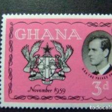 Sellos: GHANA 1959 VISITA DEL PRINCIPE FELIPE DUQUE DE EDIMBURGO YVERT 59 ** MNH. Lote 151667072