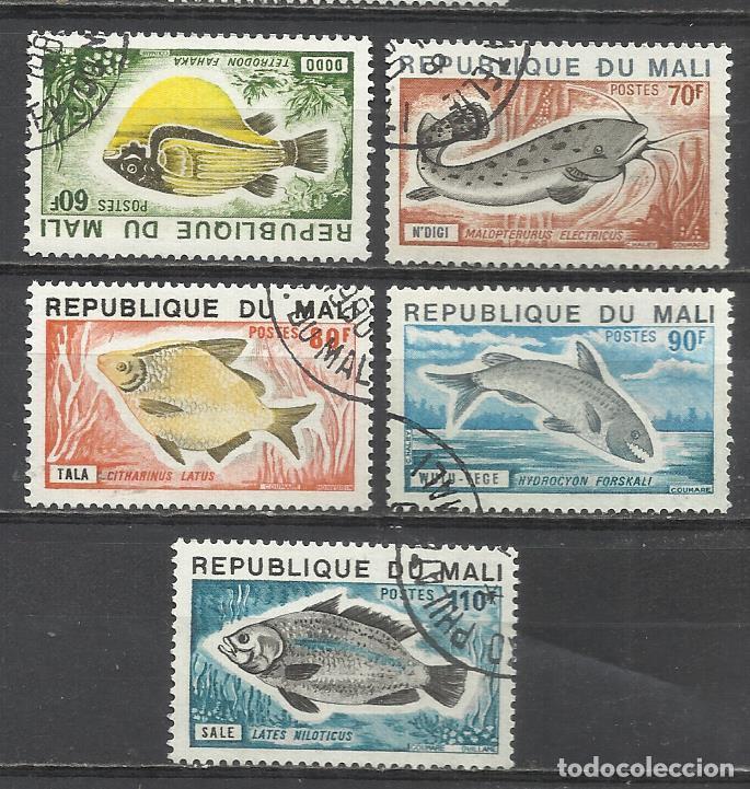 356-SELLOS SERIE COMPLETA 1957 Nº 236/40 PECES MALI COLONIA FRANCESA,FAUNA MARINA.BONITOS SELLOS TE (Sellos - Extranjero - África - Otros paises)