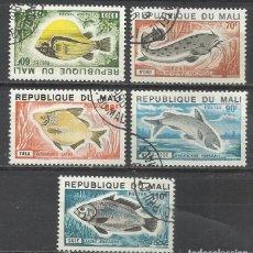 Sellos: 356-SELLOS SERIE COMPLETA 1957 Nº 236/40 PECES MALI COLONIA FRANCESA,FAUNA MARINA.BONITOS SELLOS TE. Lote 145524042