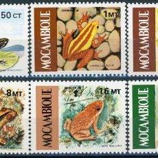 Sellos: MOZAMBIQUE 1985 IVERT 1002/07 *** FAUNA - BATRACIOS - RANAS. Lote 146557206
