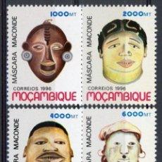 Sellos: MOZAMBIQUE 1996 IVERT 1315/18 *** MASCARAS MACONDE. Lote 146559478