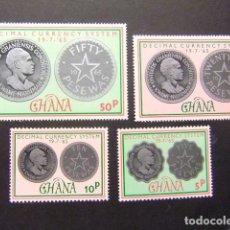 Stamps - Ghana 1965 Monnaie et Kwame Nkrumah Yvert 212 / 15 ** MNH - 146727126