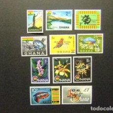Stamps - Ghana 1965 Nouvelle Monnaie Yvert 201 / 11 ** MNH - 146727606