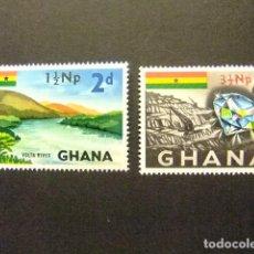 Sellos: GHANA 1967 SURCHARGÉS TIMBRES 1959-61 YVERT 266 / 67 ** MNH. Lote 146735186