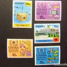 Sellos: GHANA 1971 FERIA INTERNACIONAL ACCRA YVERT 398 / 02 ** MNH. Lote 146736094