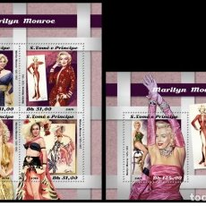 Sellos: S. TOME & PRINCIPE 2018 - MARILYN MONROE. M/S + S/S OFFICIAL ISSUE MNH. Lote 147536282