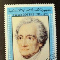 Sellos: ESTADO ISLAMICO DE COMORES - THE 150TH ANNIVERSARY OF THE DEATH OF GOETHE 75 FR - 1982. Lote 148836898