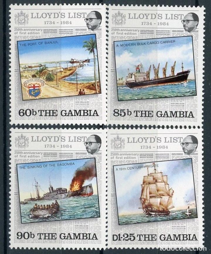 GAMBIA 1984 IVERT 514/17 *** 250º ANIVERSARIO DE LA 1ª EDICIÓN DE LA LIST LLOYD - BARCOS (Sellos - Extranjero - África - Otros paises)