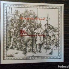 Sellos: HOJA BLOQUE-MAURITANIA-ALBRECHT DURER-1471-1528. Lote 150467766