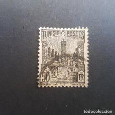 Sellos: TÚNEZ,TUNISIE,COLONIA FRANCESA,1926-1946,MEZQUITA DE TÚNEZ,SCOTT 87,USADO,(LOTE AG). Lote 151612098