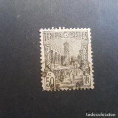 Sellos: TÚNEZ,TUNISIE,COLONIA FRANCESA,1926-1946,MEZQUITA DE TÚNEZ,SCOTT 87,USADO,(LOTE AG). Lote 151612170