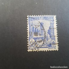 Sellos: TÚNEZ,TUNISIE,COLONIA FRANCESA,1926-1946,MEZQUITA DE TÚNEZ,SCOTT 88C,USADO,(LOTE AG). Lote 151614402