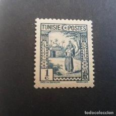 Sellos: TÚNEZ,TUNISIE,COLONIA FRANCESA,1931-1934,AGUADORA,SCOTT 122,NUEVO,SEÑAL FIJASELLO,(LOTE AG). Lote 151614894