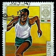 Sellos: BURUNDI SCOTT: 263-(1968) (JJ OO MEXICO - SPRINTER) USADO. Lote 151875822