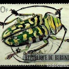 Sellos: BURUNDI SCOTT: 318-(1970) (ESCARABAJO DE CUERNOS LARGOS (STERNOTOMIS BOHEMANI) USADO. Lote 151876854