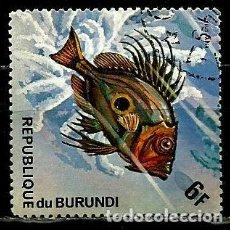 Sellos: BURUNDI SCOTT: 453D-(1974) (PEZJOHN DORY (ZEUS FABER) USADO. Lote 151877238