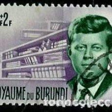 Sellos: BURUNDI SCOTT: B25-(1966) (SOBRETAXA BENEFICA) (PRESIDENTE: J.F.KENNEDY) USADO. Lote 151878366