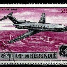 Sellos: BURUNDI SCOTT: C58-(1967) (CORREO AEREO) (BOEING 727 ''SABENA'') USADO. Lote 151878782