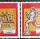 Sellos: 1992. DEPORTES. REP CENTROAFRICANA. A 365 / A 366. JUEGOS OLÍMPICOS BARCELONA. SERIE COMPLETA. NUEVO. Lote 153089542