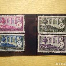 Sellos: LOTE 4 ANTIGUOS SELLOS DE ÁFRICA ECUATORIAL FRANCESA - NUEVOS - CON CHARNELA EN FICHA. Lote 153312654