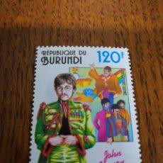 Sellos: BURUNDI : SELLO DEL FAMOSO JOHN LENNON, MNH. Lote 153619514