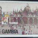 Sellos: 1990. DEPORTES. GAMBIA. HB 98. MUNDIAL FÚTBOL ITALIA. NUEVO.. Lote 154155206