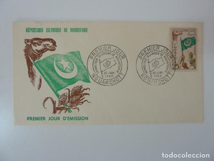 SOBRE PRIMER DÍA DE EMISIÓN. REPÚBLICA DE MAURITANIA. AÑO 1960 (Sellos - Extranjero - África - Otros paises)