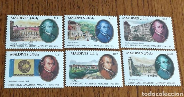 MALDIVAS :YT. 1405/1410 MNH, MÚSICA, COMPOSITORES, MOZART (Sellos - Extranjero - África - Otros paises)