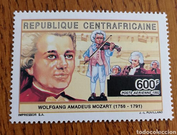 CENTROAFRICA: MÚSICA, COMPOSITORES, MOZART, MNH (Sellos - Extranjero - África - Otros paises)