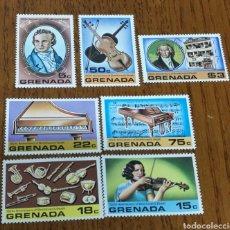 Sellos: GRANADA: YT. 804/10 SIN GOMA, MÚSICA, COMPOSITORES, BEETHOVEN.. Lote 154832142