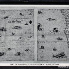 Sellos: SANTA HELENA HB 5** - AÑO 1981 - MAPAS ANTIGUOS DE LA ISLA. Lote 154962798