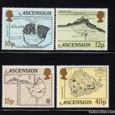 Sellos: ASCENSION 292/95** - AÑO 1981 - MAPAS ANTIGUOS DE LA ISLA. Lote 154965246