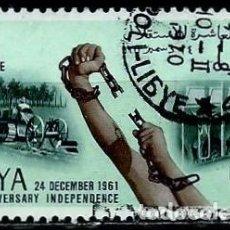 Sellos: LIBIA SCOTT: 212-(1961) (X ANIVERSARIO DE LA INDEPENDENCIA) USADO. Lote 155857122
