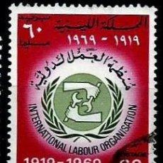 Sellos: LIBIA SCOTT: 363-(1969) (50 ANIVERSARIO DE LA OIT) USADO. Lote 155857302