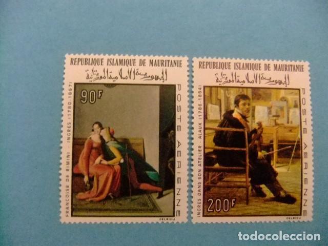 MAURITANIA 1967 DOMINIQUE INGRES YVERT PA 70 / 71 ** MNH (Sellos - Extranjero - África - Otros paises)