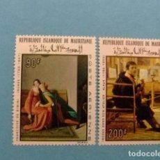Sellos: MAURITANIA 1967 DOMINIQUE INGRES YVERT PA 70 / 71 ** MNH. Lote 155870530