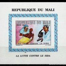 Sellos: MALI SCOTT: 701-(1994)-(HOJA BLOQUE, SIN DENTAR) (TRATAMIENTO DEL PACIENTE CON SIDA) USADO. Lote 155999042