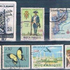 Sellos: MOZAMBIQUE 1953 / 67 - YVERT 423 + 424 + 455 + 520 + 533 + AE 30 + AE 31 ( USADOS ). Lote 156069306