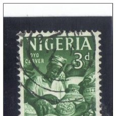 Sellos: NIGERIA 1961 - YVERT 96 ( USADO ). Lote 156182790