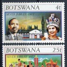 Sellos: BOTSWANA 1977 IVERT 331/33 *** 25º ANIVERSARIO DE LA ASCENSIÓN AL TRONO DE S. M. ISABEL II. Lote 156984394