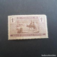Sellos: MAURITANIA COLONIA FRANCESA 1913-1938 CRUZANDO EL DESIERTO SCOTT 18 YVERT 17,NUEVO,POCA GOM(LOTE AG). Lote 157050878