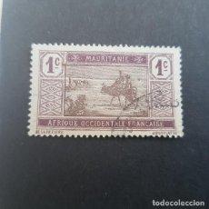 Sellos: MAURITANIA COLONIA FRANCESA 1913-1938 CRUZANDO EL DESIERTO SCOTT 18 YVERT 17,USADO,(LOTE AG). Lote 157051734
