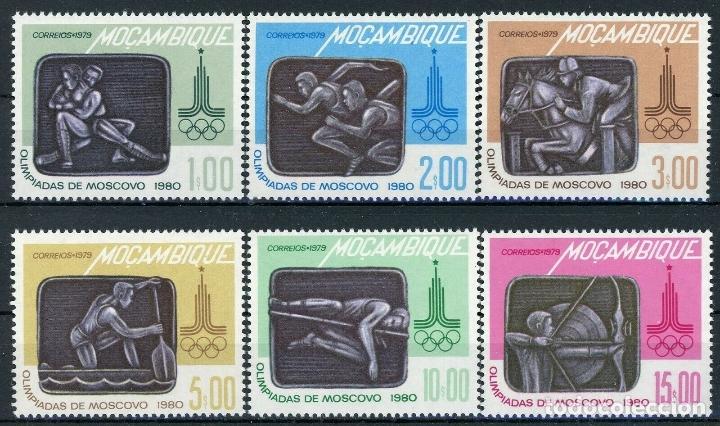 MOZAMBIQUE 1979 IVERT 683/88 *** JUEGOS OLIMPICOS DE MOSCU - DEPORTES (Sellos - Extranjero - África - Otros paises)
