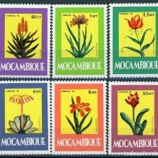 Sellos: MOZAMBIQUE 1985 IVERT 1008/13 *** PLANTAS MEDICINALES - FLORA. Lote 158231598