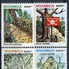 Sellos: MOZAMBIQUE 1996 IVERT 1319/22 *** OPERACIONES PARA QUITAR MINAS. Lote 158236806